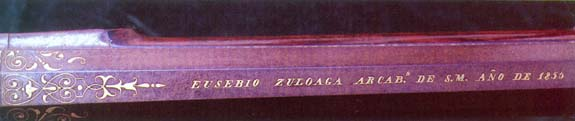 Trabajo de ataujía de E. Zuloaga