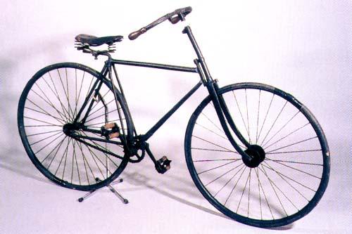 Bicicleta de finales del XIX , principios del XX.