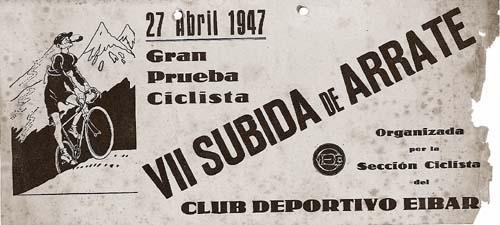 Cartel de la Subida a Arrate de 1947.
