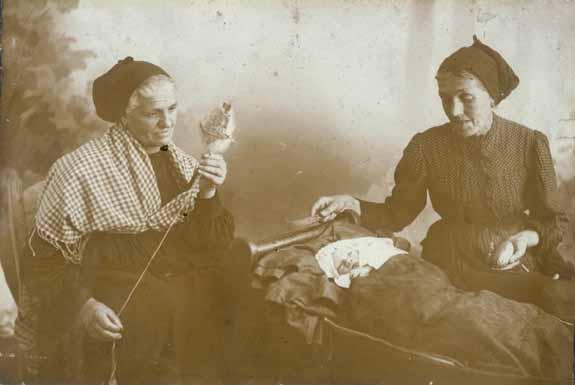 Tejiendo la lana