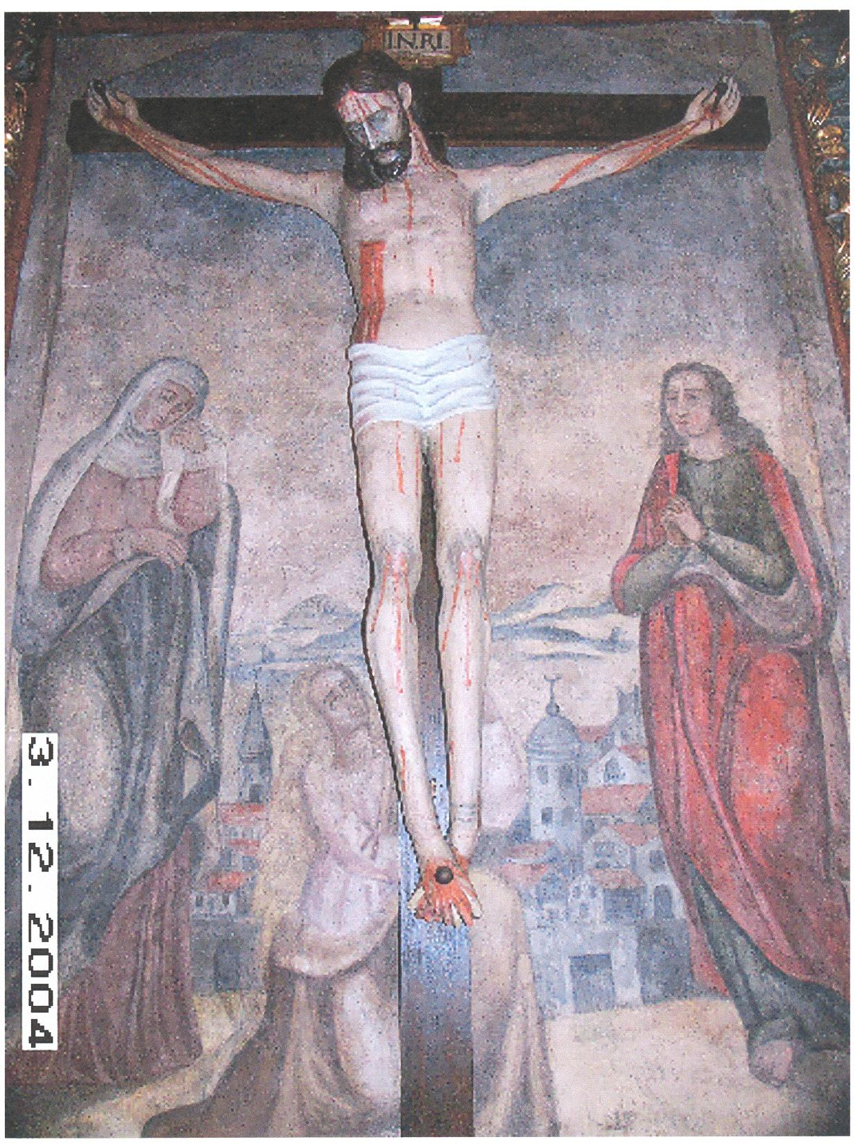 Cristo restaurado en 2004.