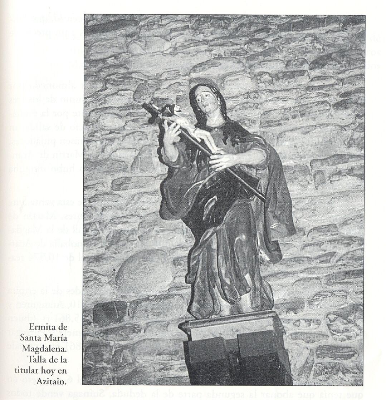 Imagen de Santa María. Actualmente, en la iglesia de Azitain.