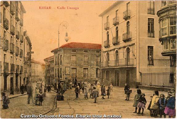 Calle Unzaga. Hacia 1910.