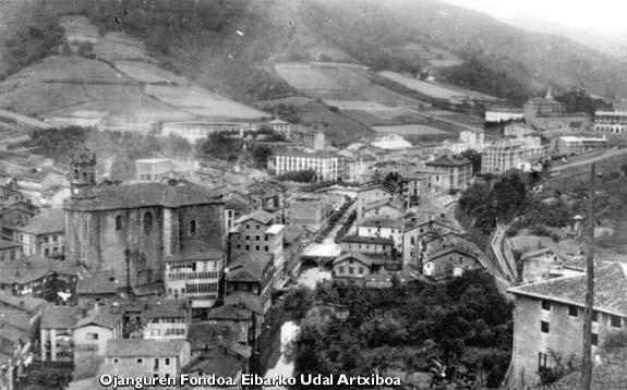 Vista general de Eibar hacia 1915