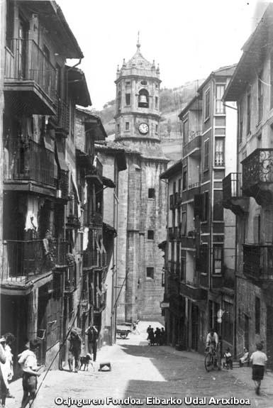 La desaparecida calle Elgetakale. Hacia 1920