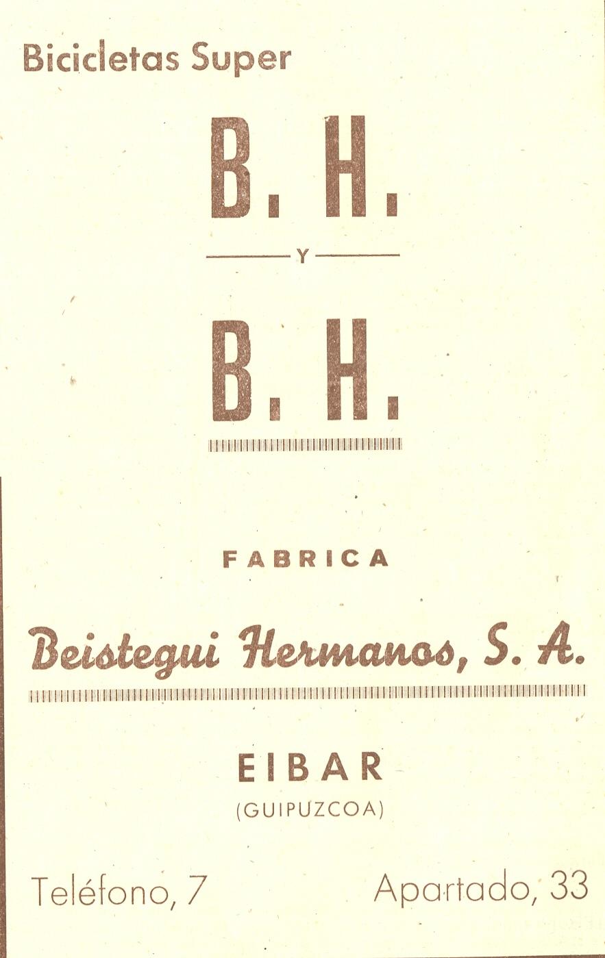 21) Beistegui hermanos, s.a.(BH)