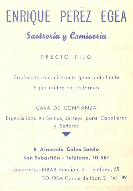 35) Enrique Pérez Egea (sastrería y camisería)