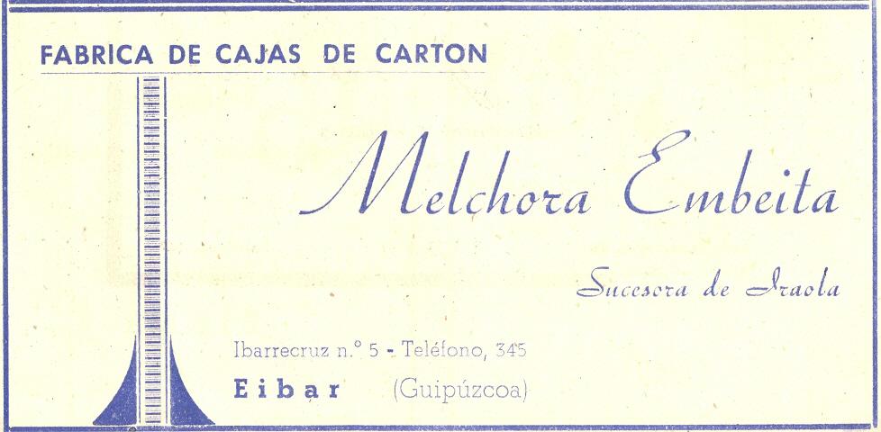 82) Melchora Embeita, fábrica de cajas de cartón