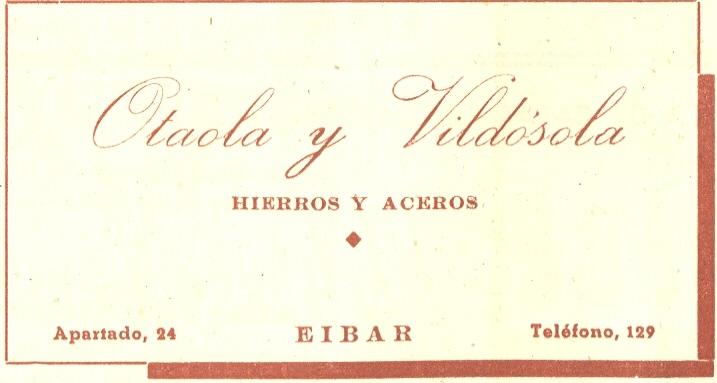 90) Otaola y Vildósola (hierros y aceros)