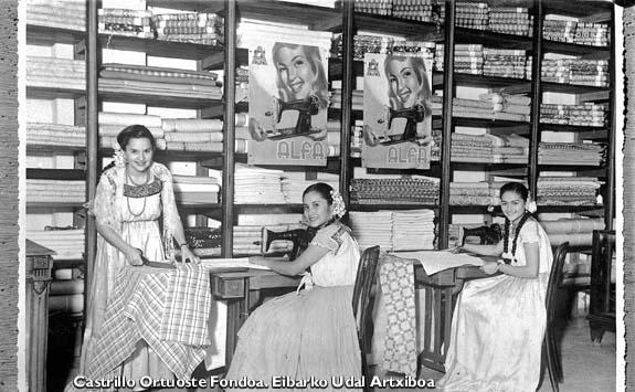 Bordatzaileak Mexikon. 1960.
