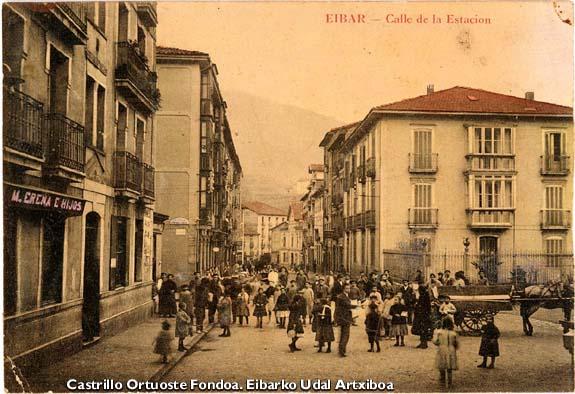 Estaziño kalea. 1910 inguruan.