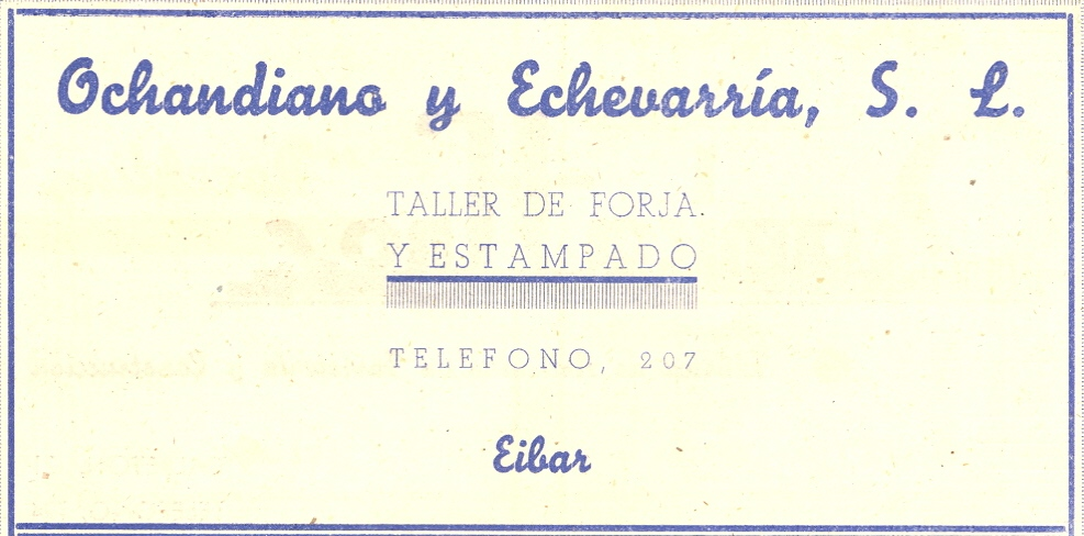 87) Ochandiano y Echevarría, s.l