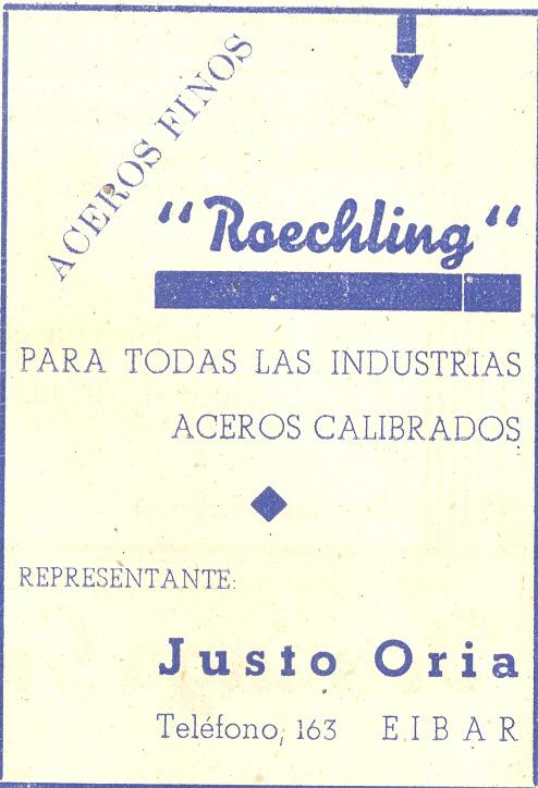 95) Representante Justo Oria de Aceros Finos Roechling