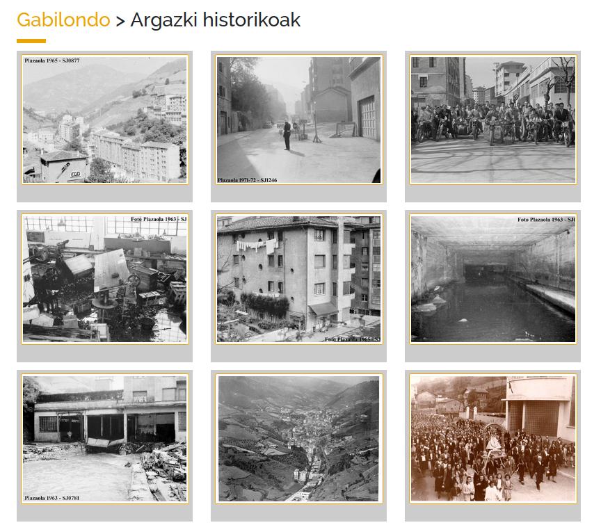 Eibarko ondare historikoaren aplikazioa - Gabilondo argazki zaharrak