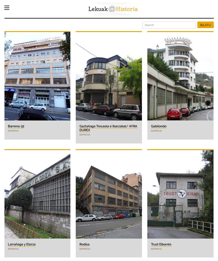 Eibarko ondare historikoaren aplikazioa - Ondare industriala